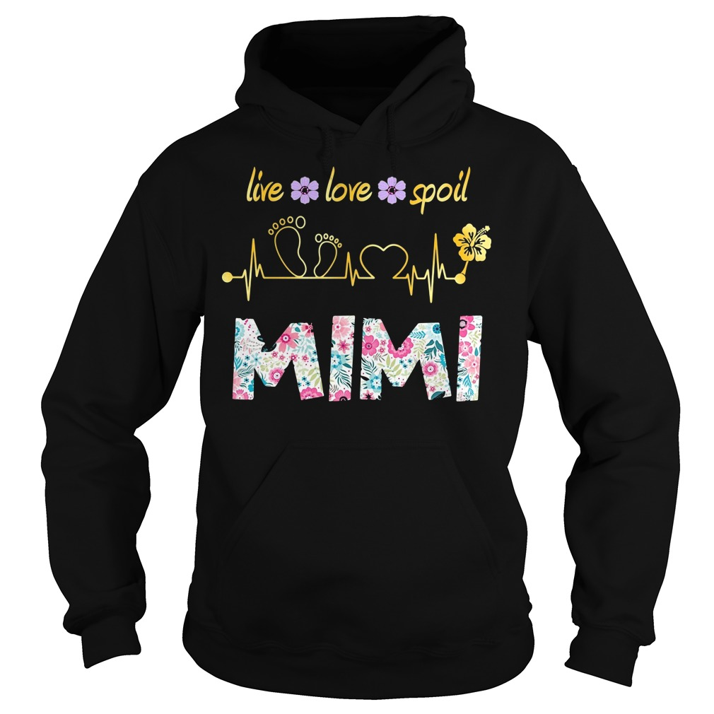 Live Love Spoil Mimi Floral Heart Beat Shirt