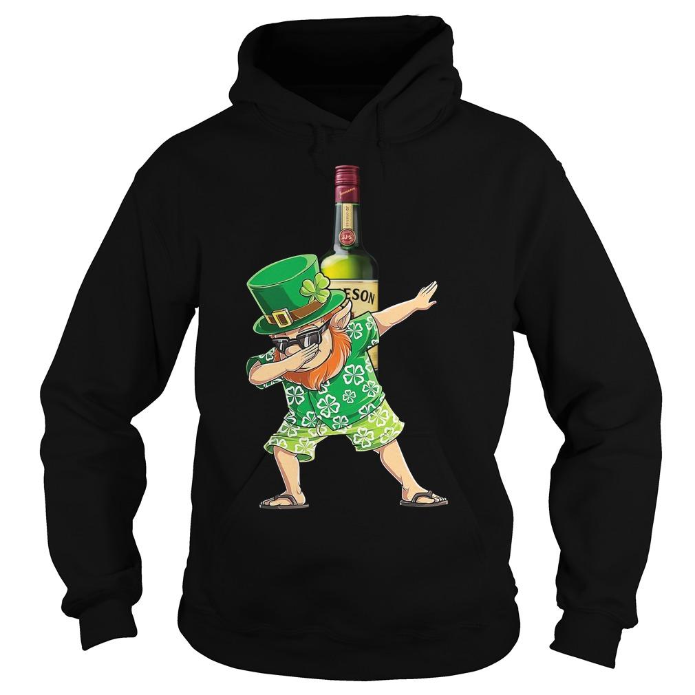 Dabbing Leprechaun Hawaiian Jameson Irish Whiskey Hoodie