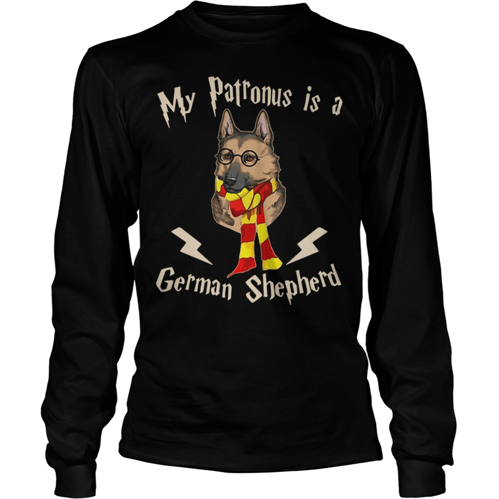 My Patronus Is A German Shepherd Harry Potter Longsleeve Shirt