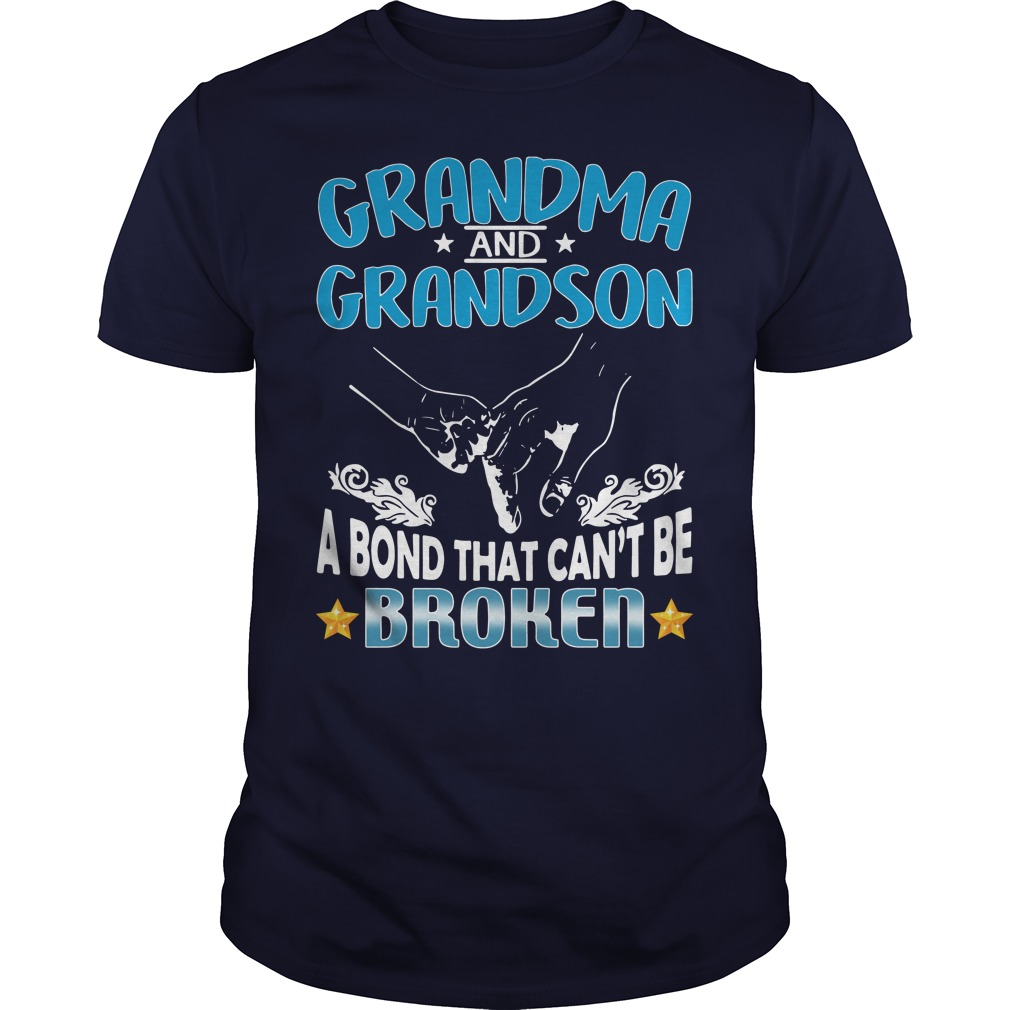 Grandma And Grandson A Bond That Can't Be Broken Guys Shirt