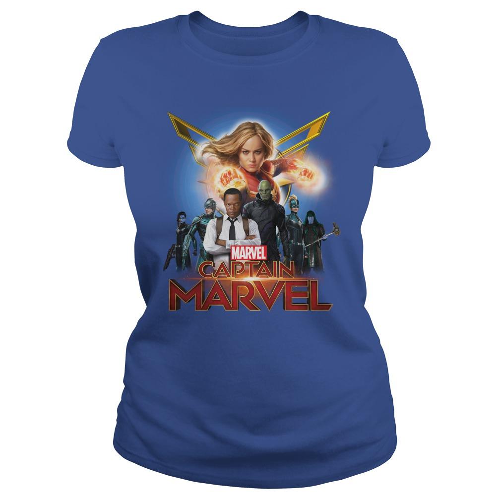 Marvel Girls' Captain Marvel Hero Patch Ladies Shirt