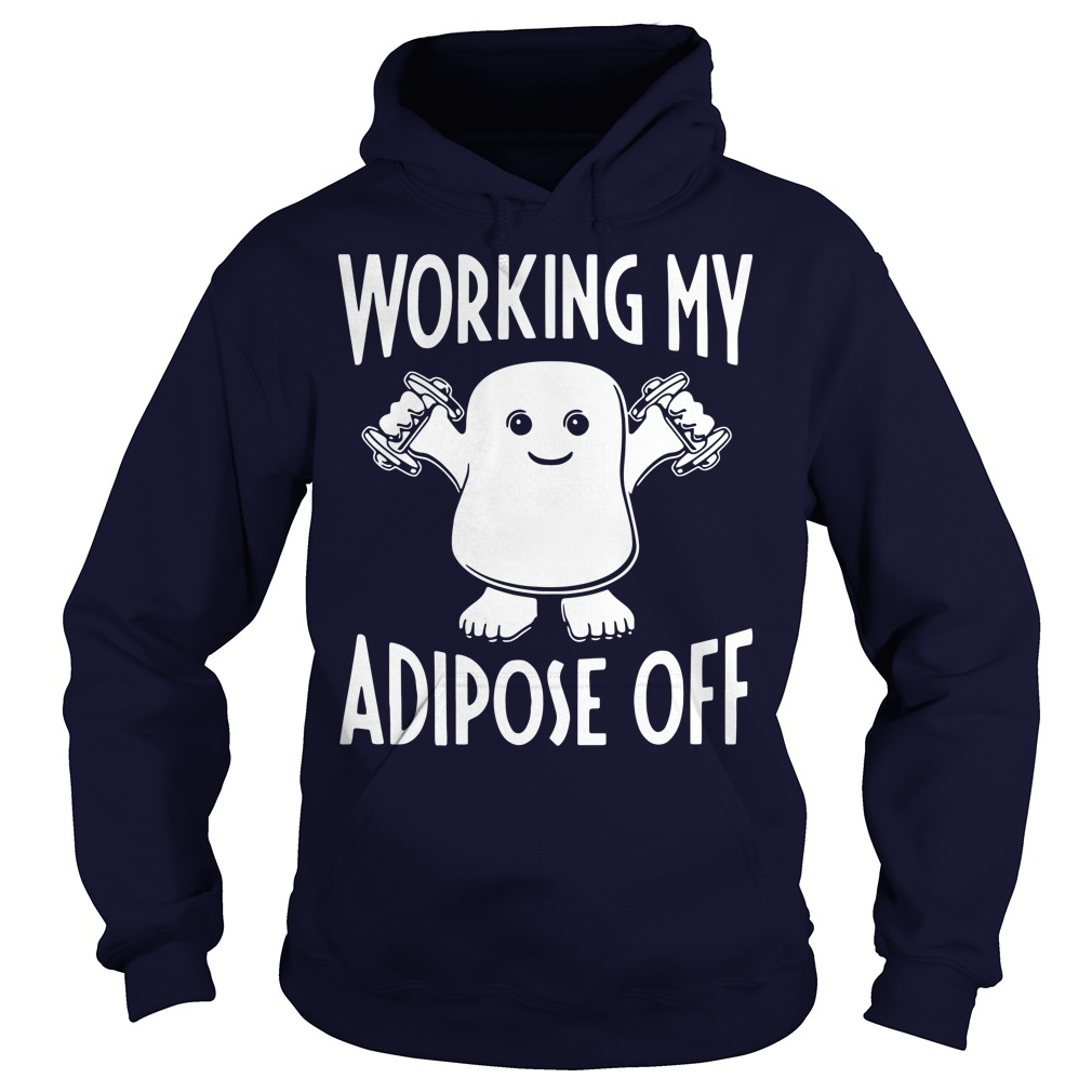 Official Doctor Who Working My Adipose Off Hoodie