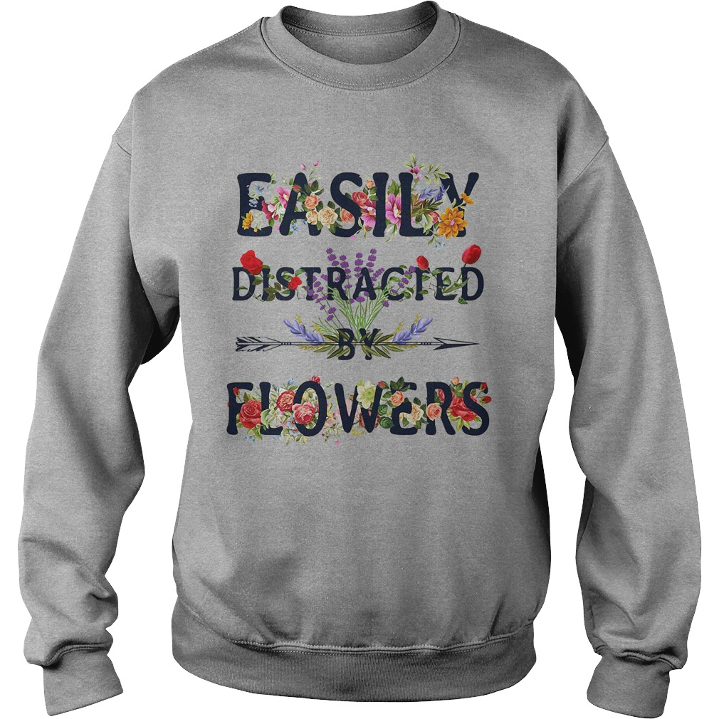 Official Easily Distracted By Flowers Sweater
