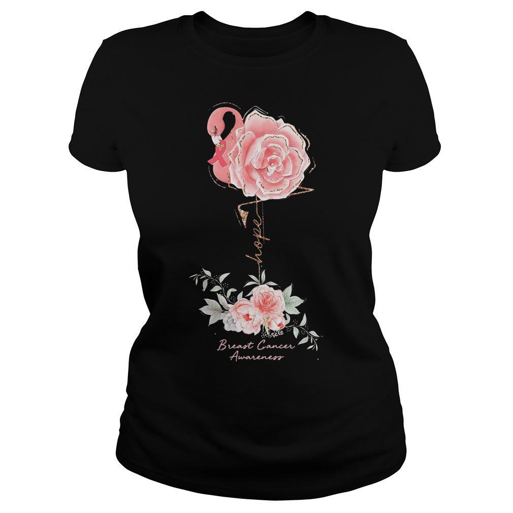 Rose Breast Cancer Awareness Ladies Shirt