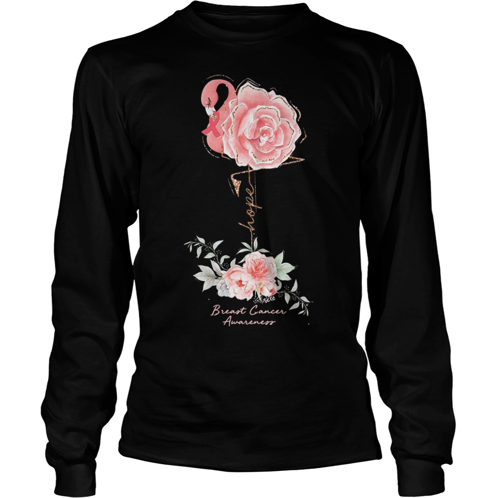 Rose Breast Cancer Awareness Longsleeve Shirt