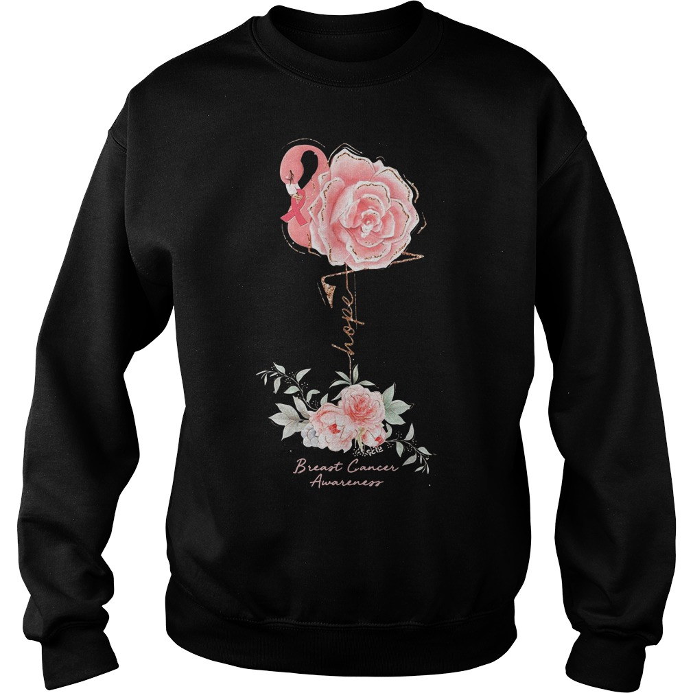 Rose Breast Cancer Awareness Sweater