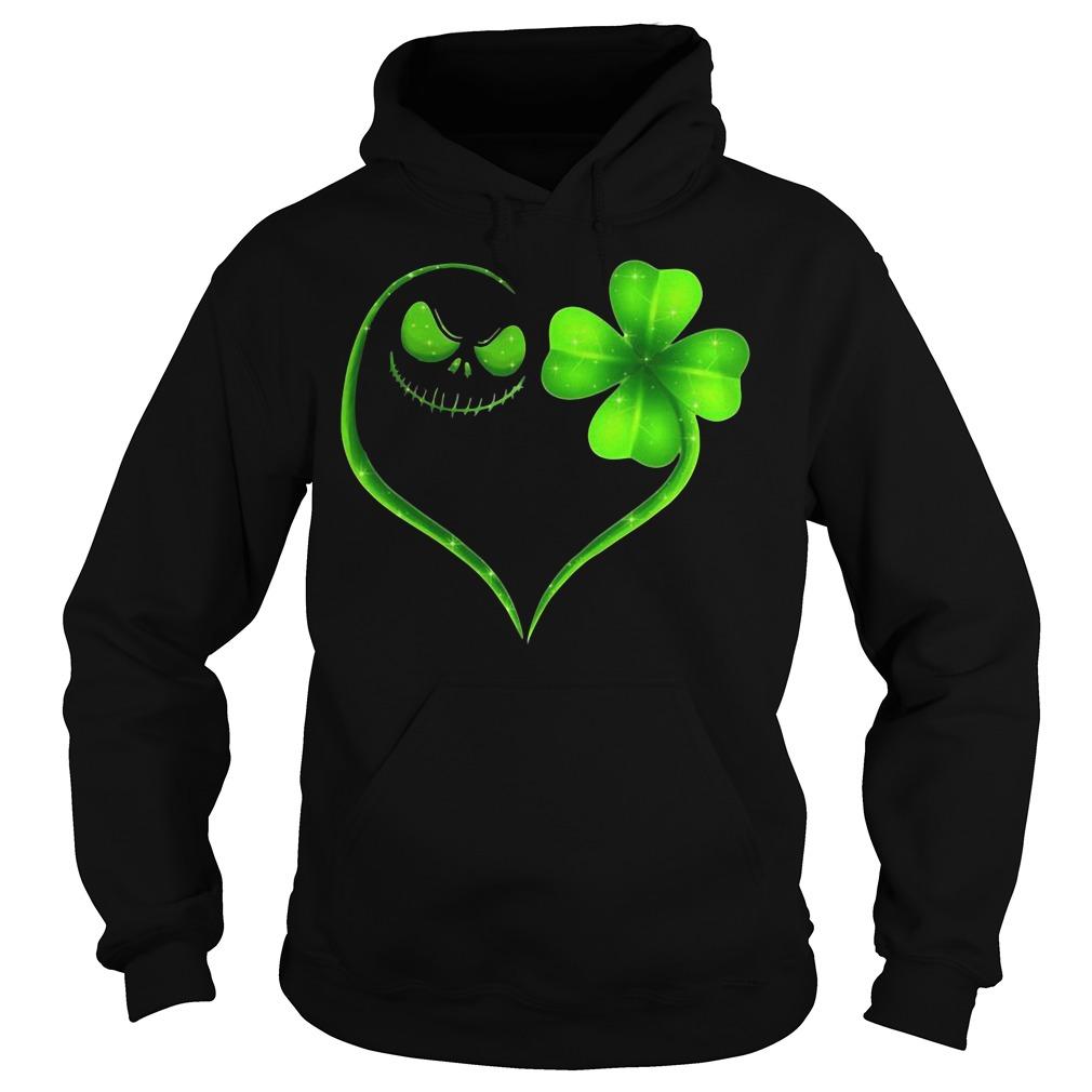 St Patrick's Day Jack Skellington Irish Heart Hoodie