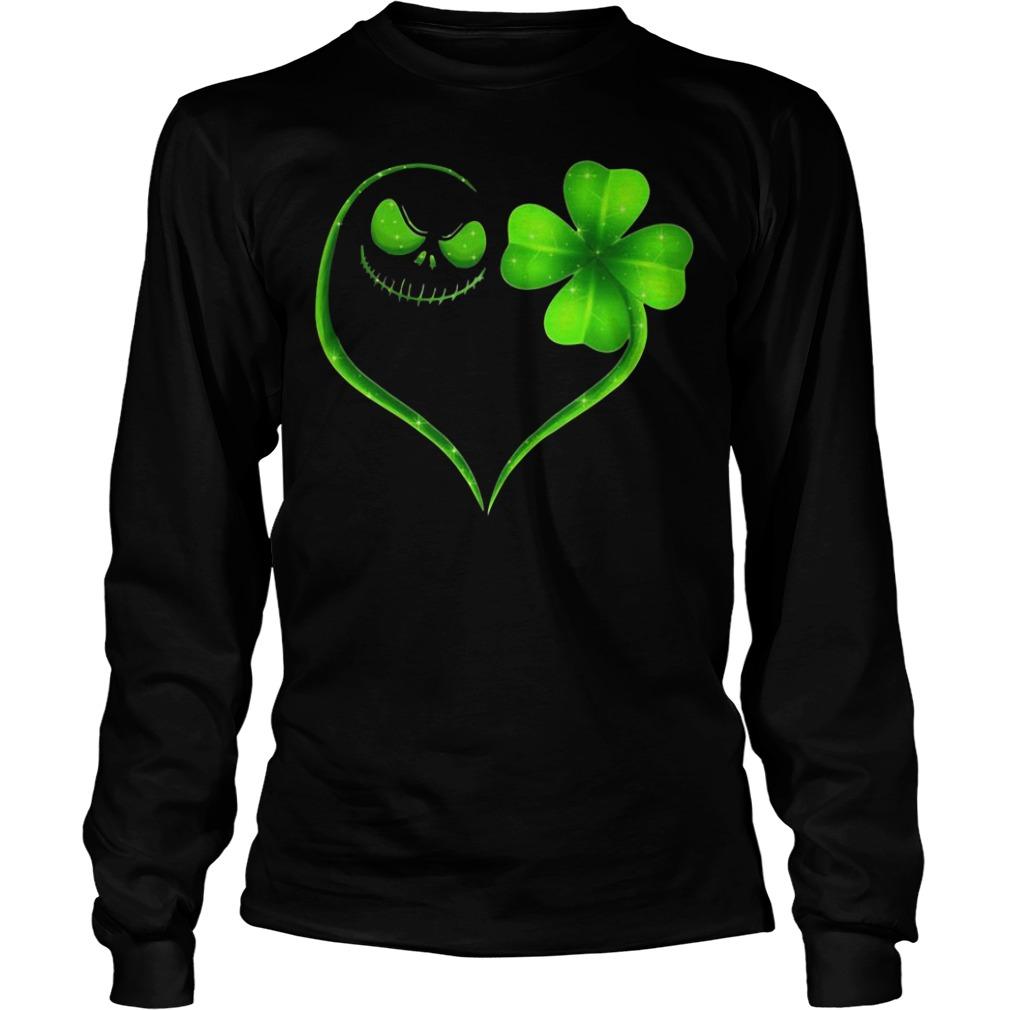 St Patrick's Day Jack Skellington Irish Heart Longsleeve Shirt
