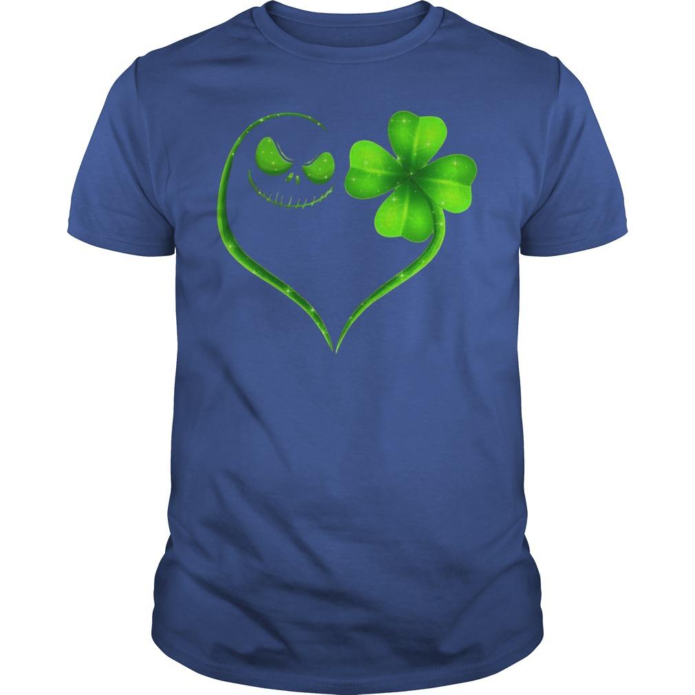 St Patrick's Day Jack Skellington Irish Heart Shirt