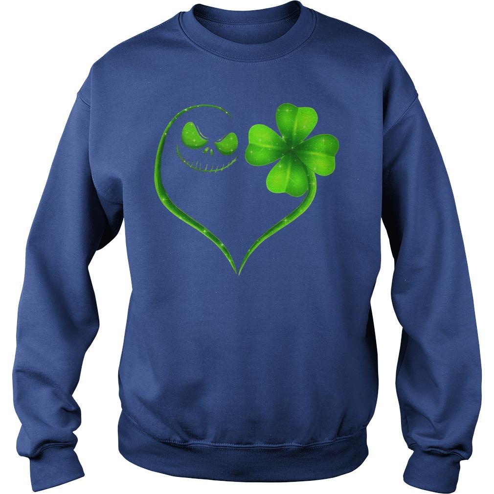 St Patrick's Day Jack Skellington Irish Heart Sweater