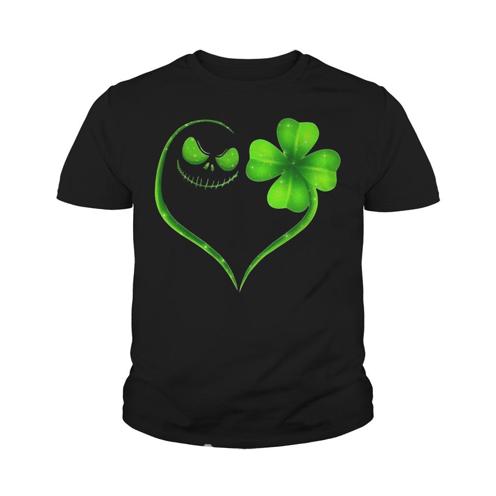 St Patrick's Day Jack Skellington Irish Heart Youth Shirt