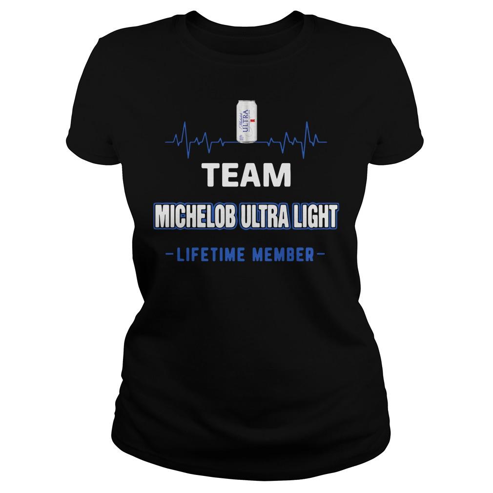 Team Michelob Ultra Light Lifetime Member Ladies Shirt