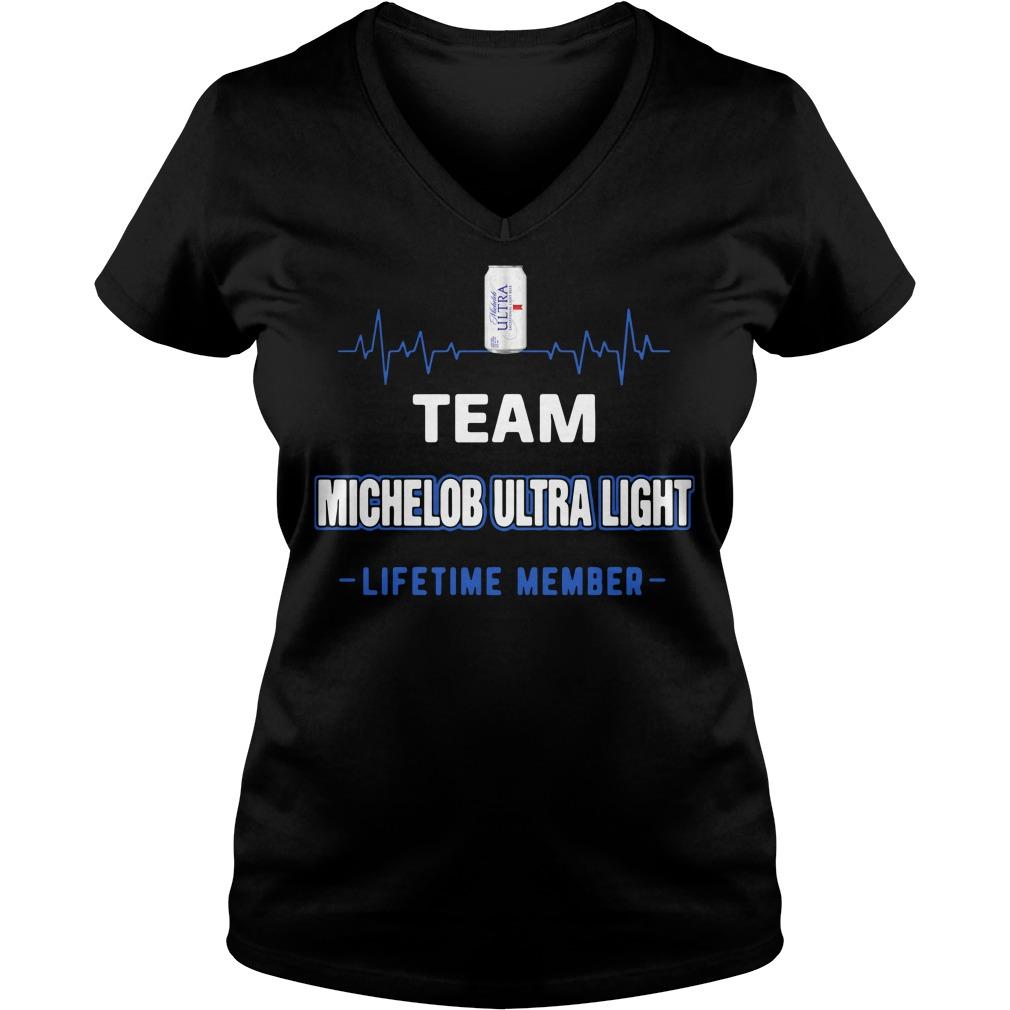 Team Michelob Ultra Light Lifetime Member Ladies v neck