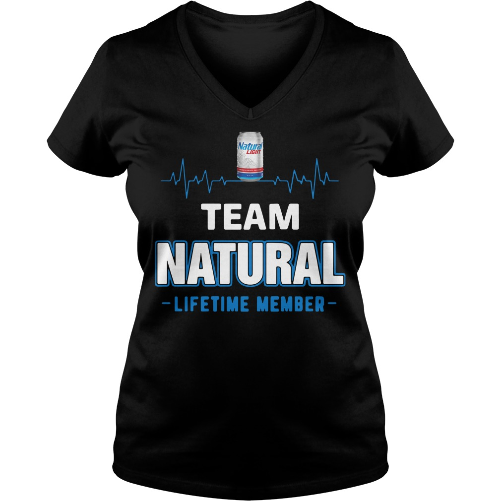 Team Natural lifetime member Ladies v neck
