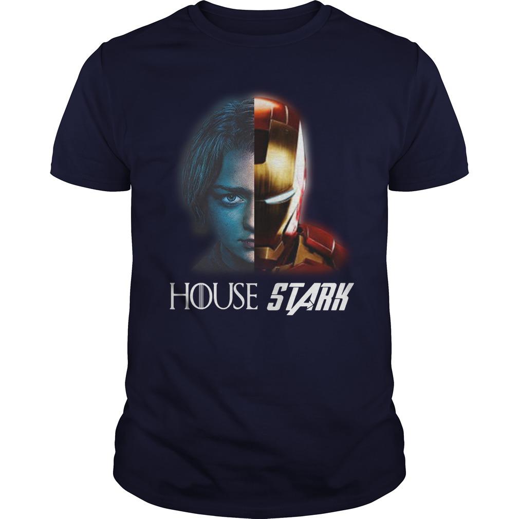 Arya And Iron Man House Stark Guys Shirt