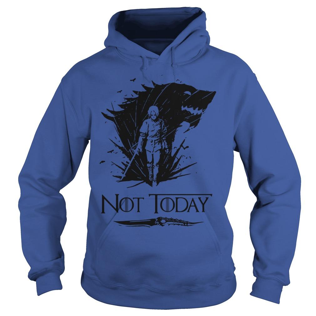 Game Of Thrones Arya Stark Catspaw Valyrian Steel Dagger Not Today Hoodie