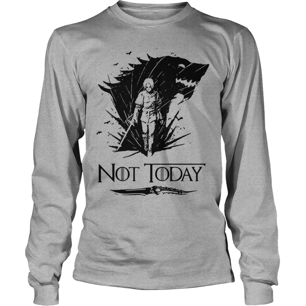 Game Of Thrones Arya Stark Catspaw Valyrian Steel Dagger Not Today Longsleeve Shirt