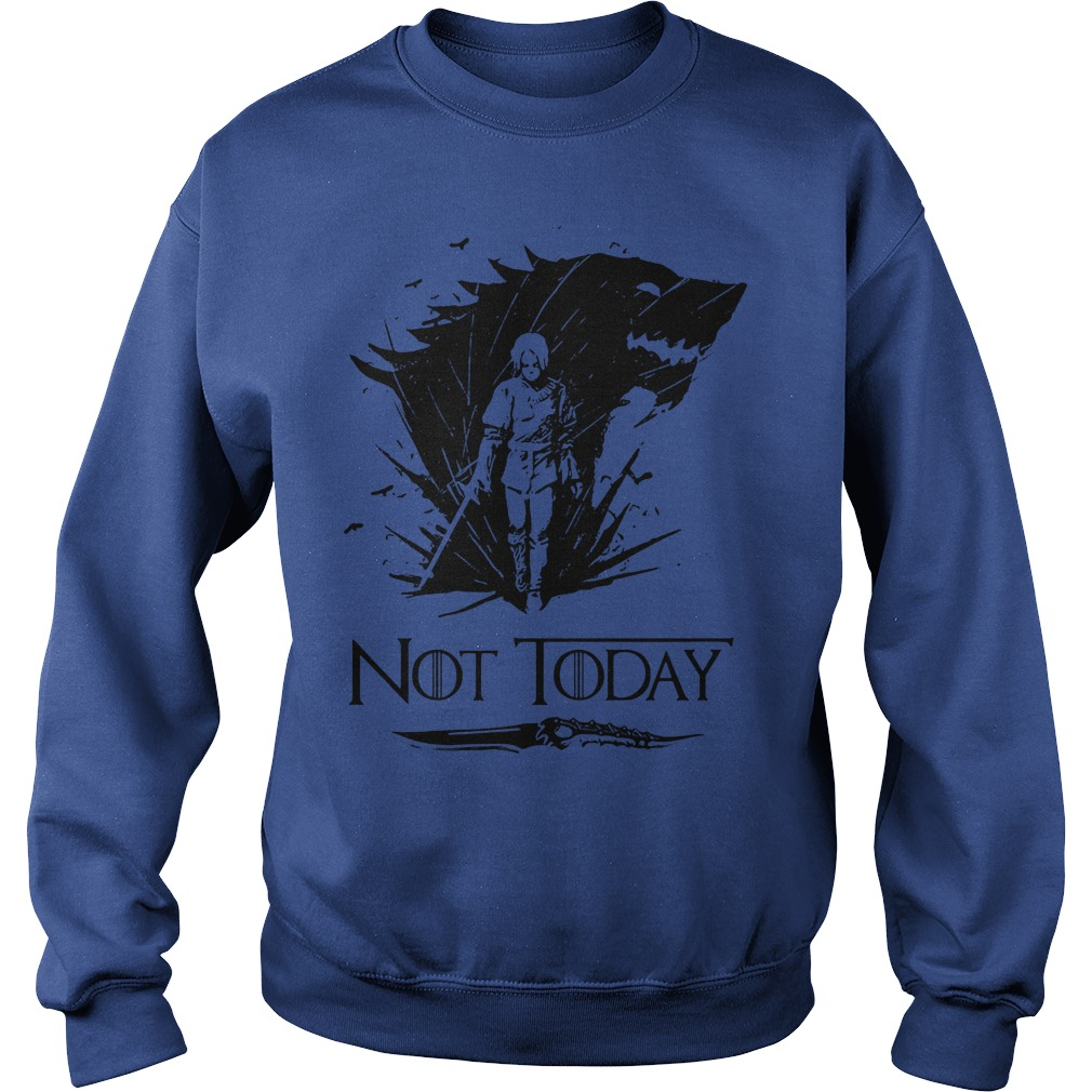 Game Of Thrones Arya Stark Catspaw Valyrian Steel Dagger Not Today Sweater