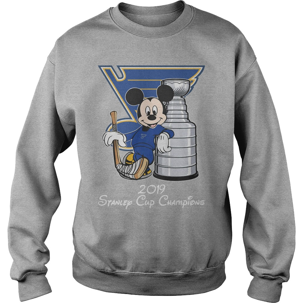 St Louis Blues 2019 Stanley Cup Champions Blue Mickey Sweatshirt