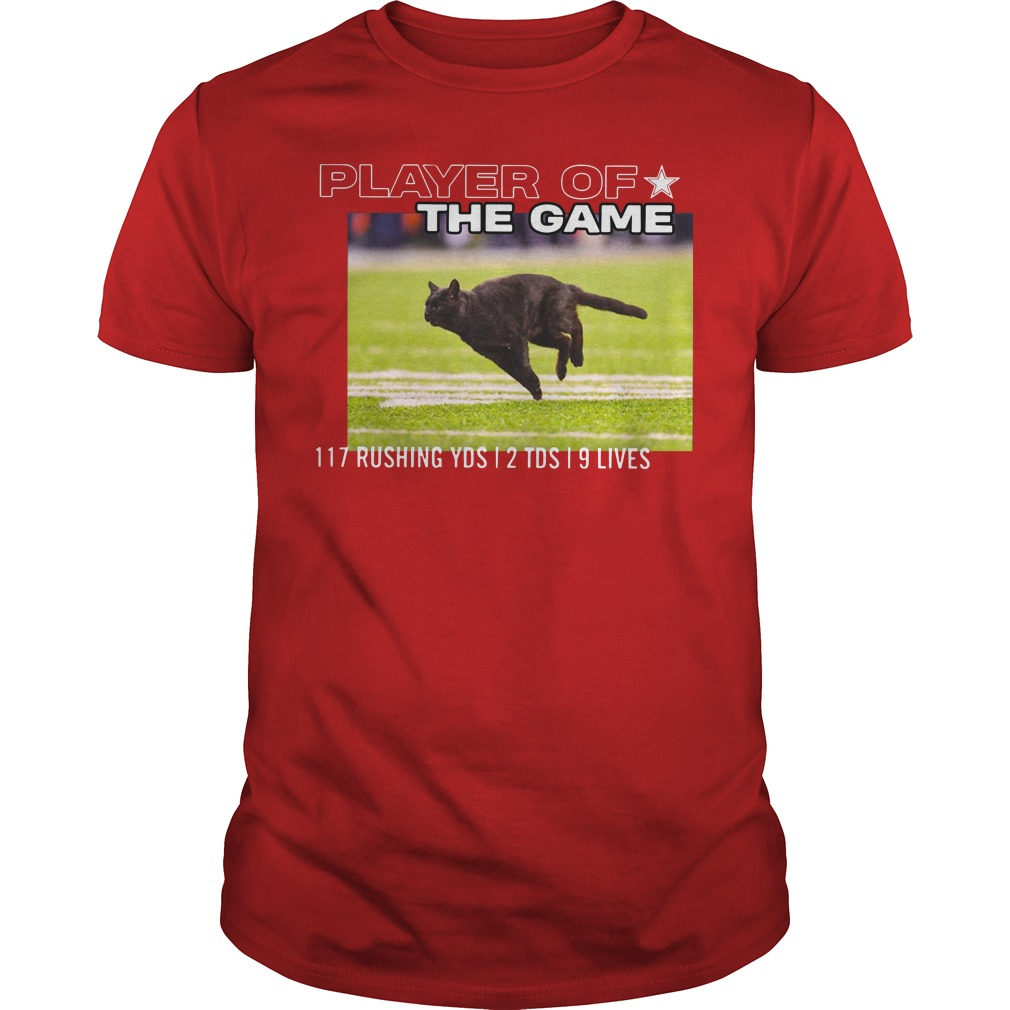 Dallas Cowboys Black Cat Play Of The Game 117 Rushing 2 Tds 9 Lives Guys Shirt