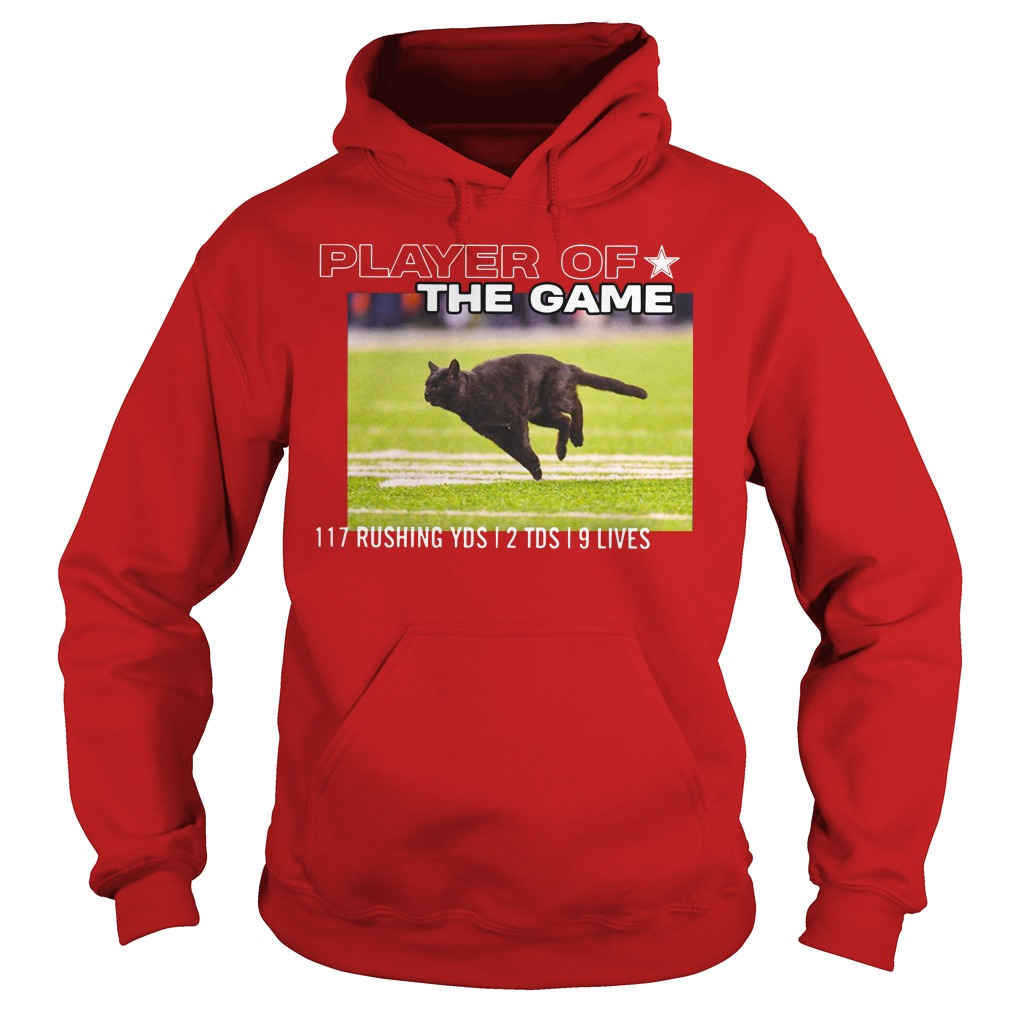 Dallas Cowboys Black Cat Play Of The Game 117 Rushing 2 Tds 9 Lives Hoodie