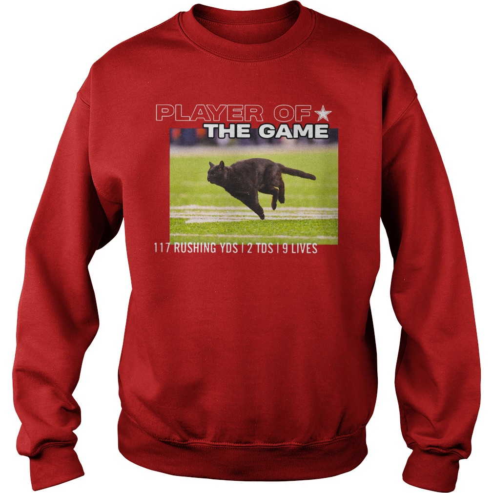 Dallas Cowboys Black Cat Play Of The Game 117 Rushing 2 Tds 9 Lives Sweater